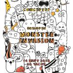 """""""Инвазија од чудовишта"""" – Прва самостојна изложба на цртежи на младиот графички и веб дизајнер Давид Ристевски"""