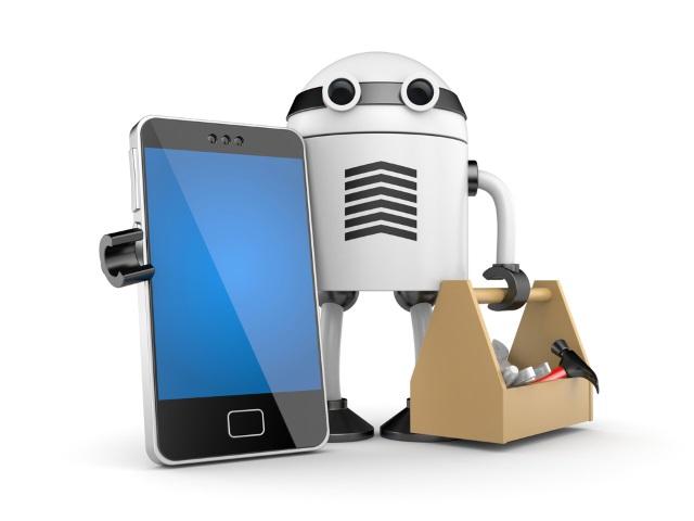 Robot mobilen telefon