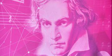 Pressekonferenz zum Beethovenjahr mit dem Oberbürgermeister Bonn A. Sridharan, M. Boeker, dem Beethovenorchester, M. Schuld und Timotheus Höttges in der Telekom-Zentrale Bonn